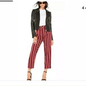 Seemed like striped capri pants in mustard